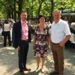 Landtagsabgeordneter Tobias Wald, OB a.D. Wolfgang Gerstner und Margret Mergen begeistert von der Aktion