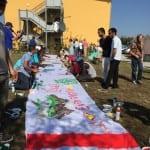 Kunstaktion im Asylbewerberhaus