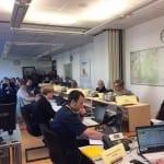 Übung des Katastrophenschutz-Teams zum Hochwasser