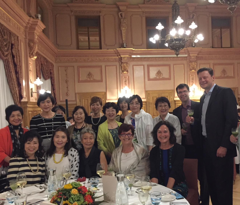 Gäste aus Japan in der Stadt